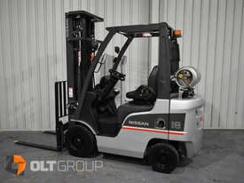 Nissan P1F 1.8 tonne forklift Sydney 5.5m Lift Height LPG  - picture0' - Click to enlarge