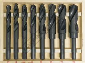 D117 Metric HSS Reduced Shank Drill Set Ø13-Ø25mm 8 Piece - picture0' - Click to enlarge