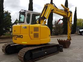 SUMITOMO SH75X 8T EXCAVATOR WITH OFFSET BOOM, HITCH AND BUCKETS. 4150 HOURS - picture1' - Click to enlarge