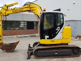 SUMITOMO SH75X 8T EXCAVATOR WITH OFFSET BOOM, HITCH AND BUCKETS. 4150 HOURS - picture4' - Click to enlarge