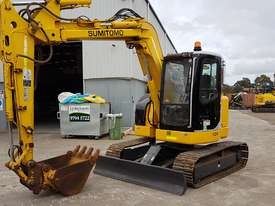 SUMITOMO SH75X 8T EXCAVATOR WITH OFFSET BOOM, HITCH AND BUCKETS. 4150 HOURS - picture5' - Click to enlarge