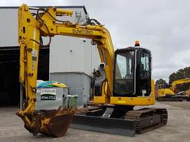 SUMITOMO SH75X 8T EXCAVATOR WITH OFFSET BOOM, HITCH AND BUCKETS. 4150 HOURS - picture6' - Click to enlarge