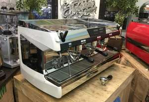 NUOVA SIMONELLI AURELIA II T3 SEMI AUTOMATIC 3 GROUP WHITE ESPRESSO COFFEE MACHINE