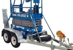 Hire 19ft Scissor Lift on Trailer Package