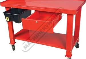 ETT-1D Steel Gearbox & Engine Tear Down Table Lockable Drawer & Removable Drain