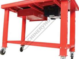 ETT-1D Steel Gearbox & Engine Tear Down Table Lockable Drawer & Removable Drain - picture3' - Click to enlarge