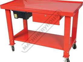 ETT-1D Steel Gearbox & Engine Tear Down Table Lockable Drawer & Removable Drain - picture9' - Click to enlarge