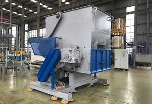 USED & EXSTOCK Shredder for Plastic, Rubber, E-Waste, Single Shaft Heavy Duty