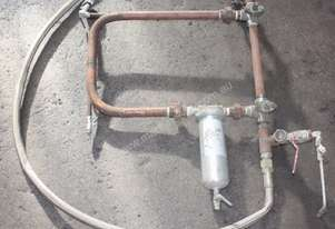 High pressure paint filter and valves