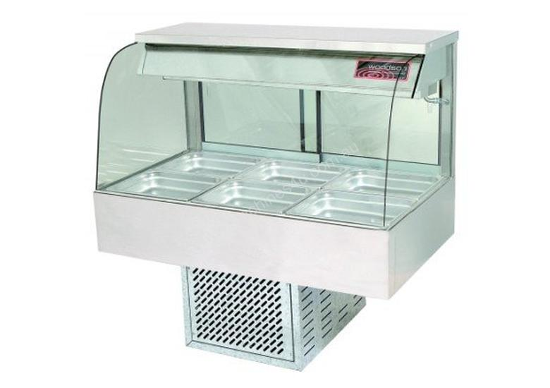 Woodson W.CFC23 Cold Food Bar - Curved Glass 1030mm