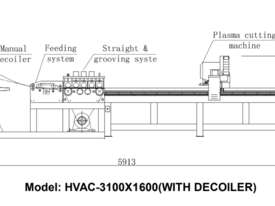 HVAC CNC Plasma With Decoiler & Programmable Feeder Straightener - picture2' - Click to enlarge