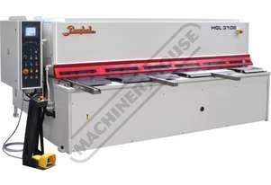 HGL-3106 Hydraulic NC Guillotine 3060 x 6mm Mild Steel Shearing Capacity 1-Axis NC Cybelec Cybtouch
