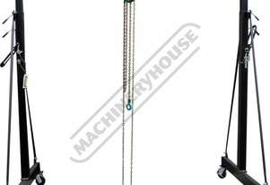 MGT-1TGT Mobile Girder Rail  Gantry Package Deal 1 Tonne Capacity Includes 1T x 3M Chain Block & 1T