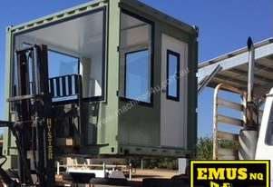 Container converted to a viewing station / site office