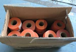 Safety Flagging Tape Orange 30mm x 90mtr x 40 Rolls Opened Box