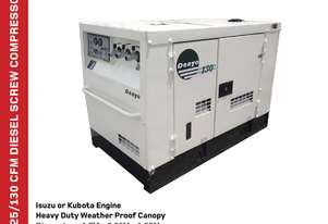 Airman 125CFM Diesel Screw Air Compressor - Isuzu Engine