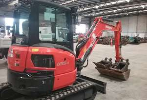 Used 2015 Kubota u55 5 Tonne Mini Excavator for sale