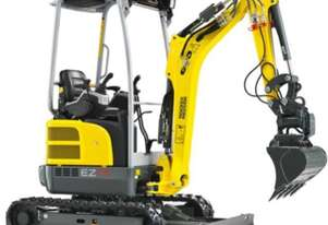 New Wacker Neuson EZ17 Excavator Quick Hitch, Inc Bucket Set