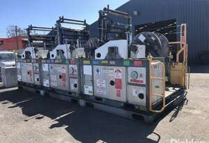 07 & 2x 04 Ozzy Cranes 2.5 Tonne Cable Reel Stands, S-OZCS2.5-014, Powered By Yanmar 3 Cyl Diesel En