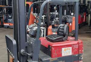 Electric forklift for sale-1.8 ton 3 wheel electric 4.5m lift height solid tyres only $5999