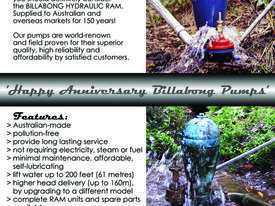 BILLABONG HYDRAUL. WATER RAMS-SALE BY MANUFACTURER - picture2' - Click to enlarge