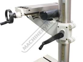 DMF-42 Pedestal Mill Drill - Geared & Tilting Head (X) 370mm (Y) 175mm (Z) 780mm 31.5mm Drilling Cap - picture10' - Click to enlarge
