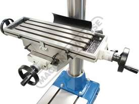 DMF-42 Pedestal Mill Drill - Geared & Tilting Head (X) 370mm (Y) 175mm (Z) 780mm 31.5mm Drilling Cap - picture11' - Click to enlarge