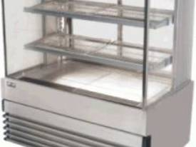 koldtech KTSQHCD12  1200mm Square Glass Heated Dis - picture0' - Click to enlarge