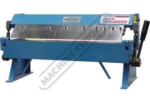 PB-24 Manual Panbrake 600 x 1.0mm Mild Steel Bending Capacity Removable Individual Bending Fingers
