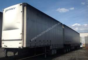 2007 Vawdrey 34 Pallet B/Double Curtainsiders, c/w