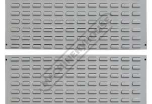 LP-900 Industrial Wall Backing Panels - Louvre Type 900 x 456 x 20mm - 2 Piece Suits Plastic Buckets