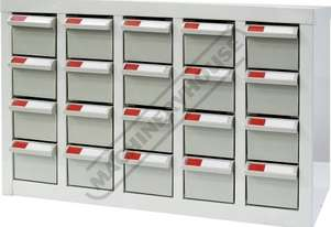 PTB-20 Parts Storage Bins 20 Bins - 586 x 222 x 350mm A8520