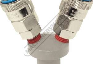 Coupling Splitter - 2 Outlets  High-Flow Air Fittings 1/4