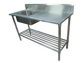 NEW COMMERCIAL 600X600 STAINLESS STEEL FLAT BENCH - picture1' - Click to enlarge