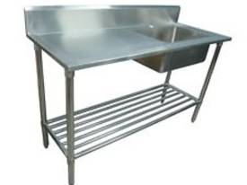 NEW COMMERCIAL 600X600 STAINLESS STEEL FLAT BENCH - picture2' - Click to enlarge