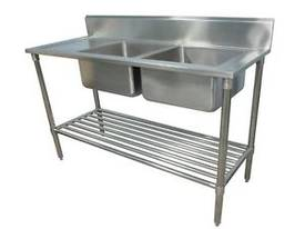 NEW COMMERCIAL DOUBLE BOWL STAINLESS STEEL SINK 15 - picture0' - Click to enlarge