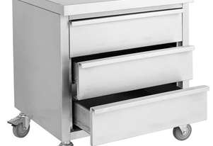 F.E.D. MDS-6-700 Mobile Work Stand with 3 Drawers