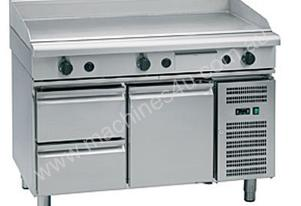Waldorf GP8120G-RB 1200mm Gas griddle - Refrigerated base