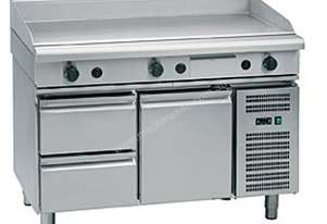 Waldorf 800 Series GP8120G-RB - 1200mm Gas Griddle `` Refrigerated Base