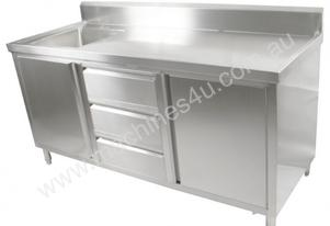 F.E.D. SC-7-1500L 'KITCHEN TIDY' Cabinet with Left Sink