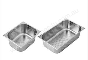 F.E.D. P11100 Australian Style 1/1 GN x 100 mm Perforated Gastronorm Pan