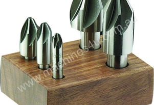 Fluted Countersink Set. Ground HSS - 6 Piece Set