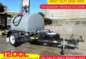 1200L Diesel Trailer Mine Spec with Litre counter