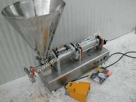 Rotary Valve Piston Filler with Hopper - picture0' - Click to enlarge