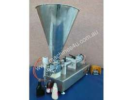 Rotary Valve Piston Filler with Hopper - picture2' - Click to enlarge