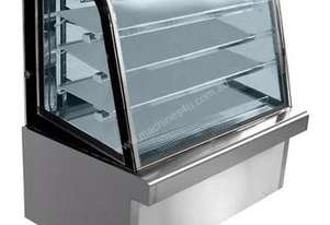 GG090FE-3XB - Chilled Curved Stainless Steel Food Display