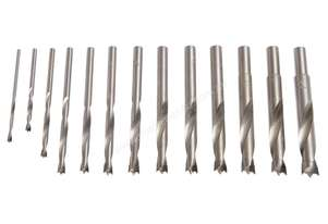 13 Piece Brad Point Drill Bit Set - Tungsten Tipped