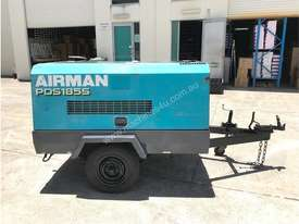 Portable Diesel Airman PDS 185 CFM Air Compressors on road tow chassis - picture0' - Click to enlarge