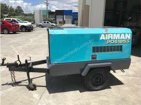 Portable Diesel Airman PDS 185 CFM Air Compressors on road tow chassis - picture2' - Click to enlarge