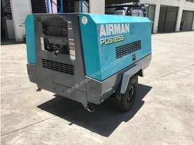 Portable Diesel Airman PDS 185 CFM Air Compressors on road tow chassis - picture3' - Click to enlarge